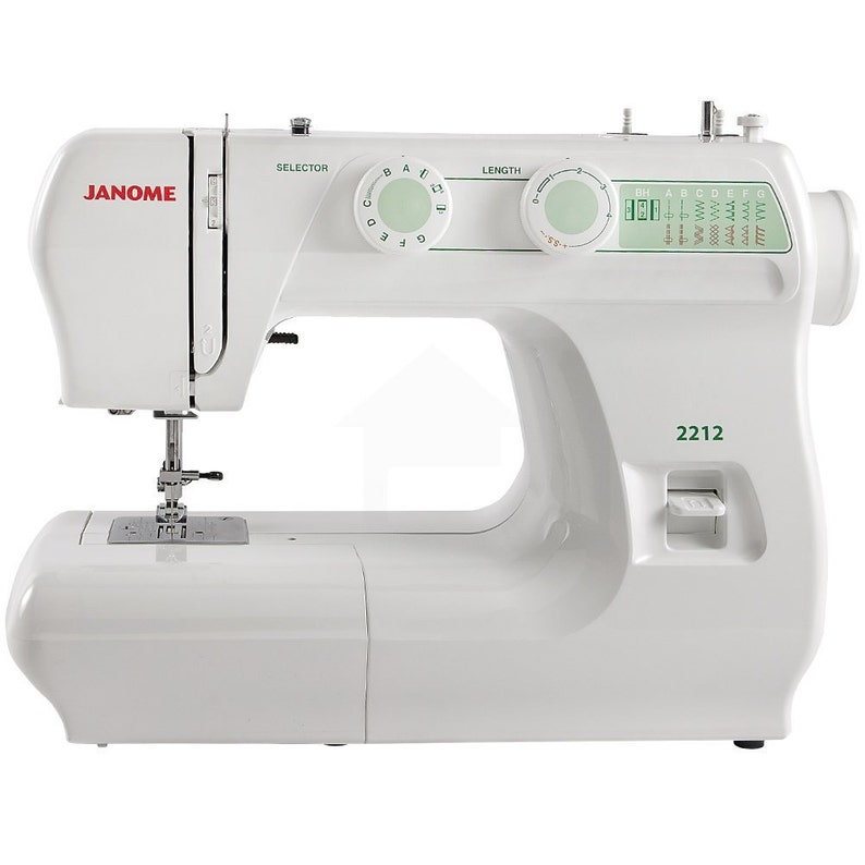 Janome 2212 Sewing Machine 12 built-in stitches including a  7c840a03ba737