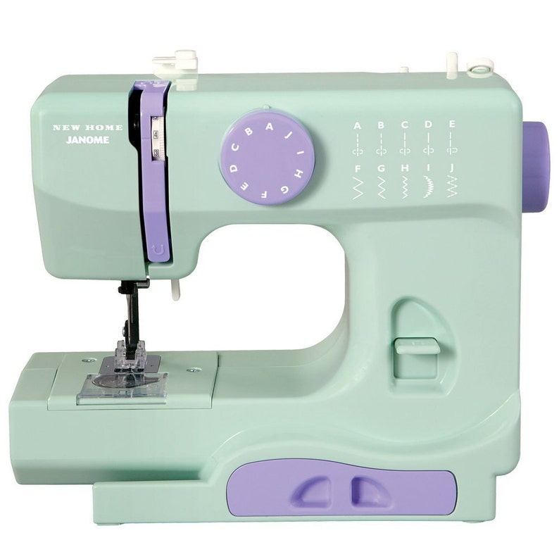 Janome New Home Portable Sewing Machine Mint Color 10 Stitch  68aab891a4613