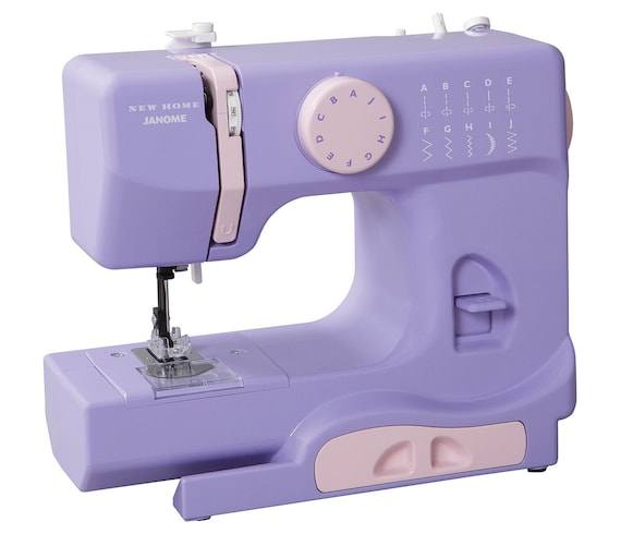Janome New Home Portable Sewing Machine Lilac Color 40 Etsy Gorgeous Portable Sewing Machine