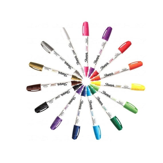 Sharpie Paint Markers Oil Based Medium Point All 15 Colors Set Drawing Coloring Painting Sharpie Arts Crafts