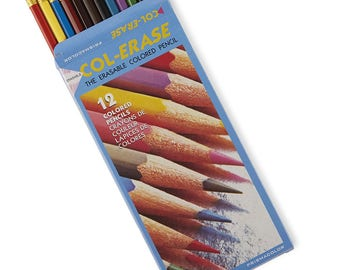 Prismacolor Col-Erase Erasable Colored Pencils Set of 12; Book Coloring, Drawing, Blending, Shading & Rendering, Prismacolor Arts Crafts