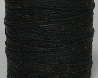 "2 Pack of Black Polyester Waxed  Cord, Thread; Beading Knotting Cord Jewelry; 210 Feet Each Spool; .040"", 1mm"