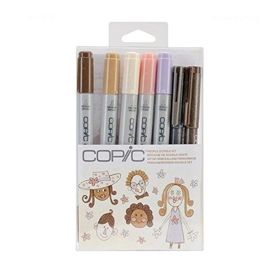 People Skin Tones Copic Markers Ciao Artist Doodle Set Copic Ciao Marker Doodle Pack Drawing Set Adult Coloring Books Bible Journaling