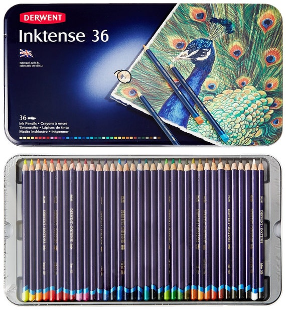 36 Watercolor Pencils Derwent Inktense Water