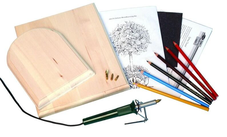 Wood Burning Pen Patterns Color Pencils & Instructions image 1