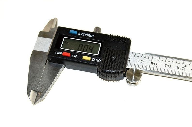 Electronic Digital Caliper, Bead measuring tool, Vernier Caliper, Large LCD  Screen, 0-6 inches, Inch and Metric