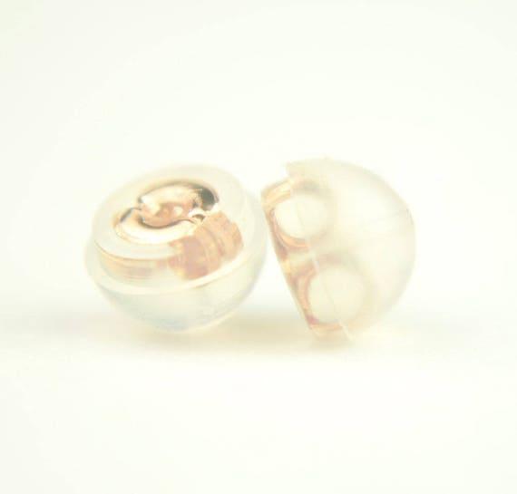 Earnuts Earring Safety Backs Dont Lose Your Earrings Rubber Petal Style Earring Wire Stopper 100