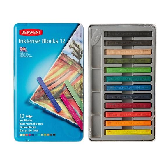 12 Watercolor Pencils Derwent Inktense Blocks