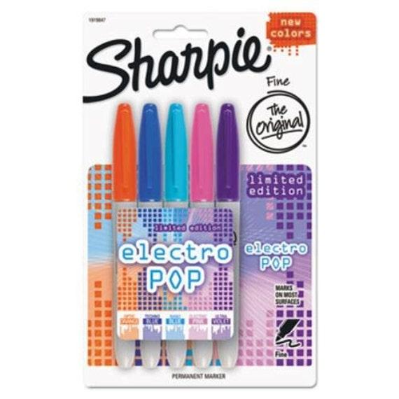 Sharpie Permanente Marcadores Plumas-Punto Fino-Limited Electro Pop Colores X 5