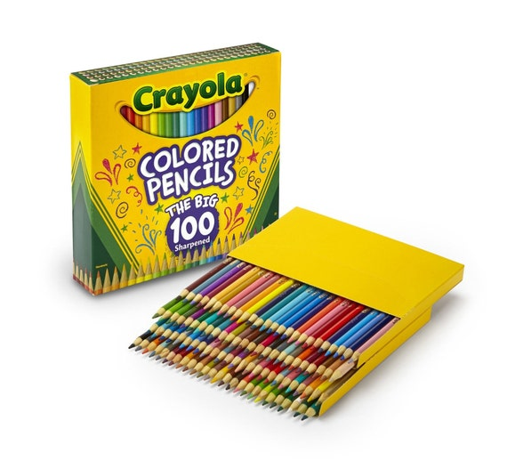 Colored Coloring Pencils 100 Pack Adult Coloring Books Etsy