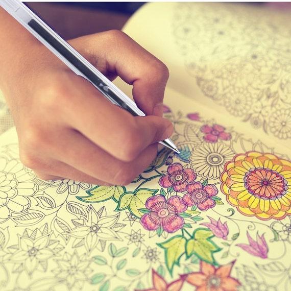 Cute Gel Pens; Adult Coloring Books 12 Coloring Book Kawaii Art Drawing 0.8mm Tips Bible Study Planner Scrapbooking Gel Pens; Neon