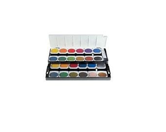 24 Watercolor Cakes, Pelican Watercolour Cake, Opaque Watercolor Set, Painting Supplies