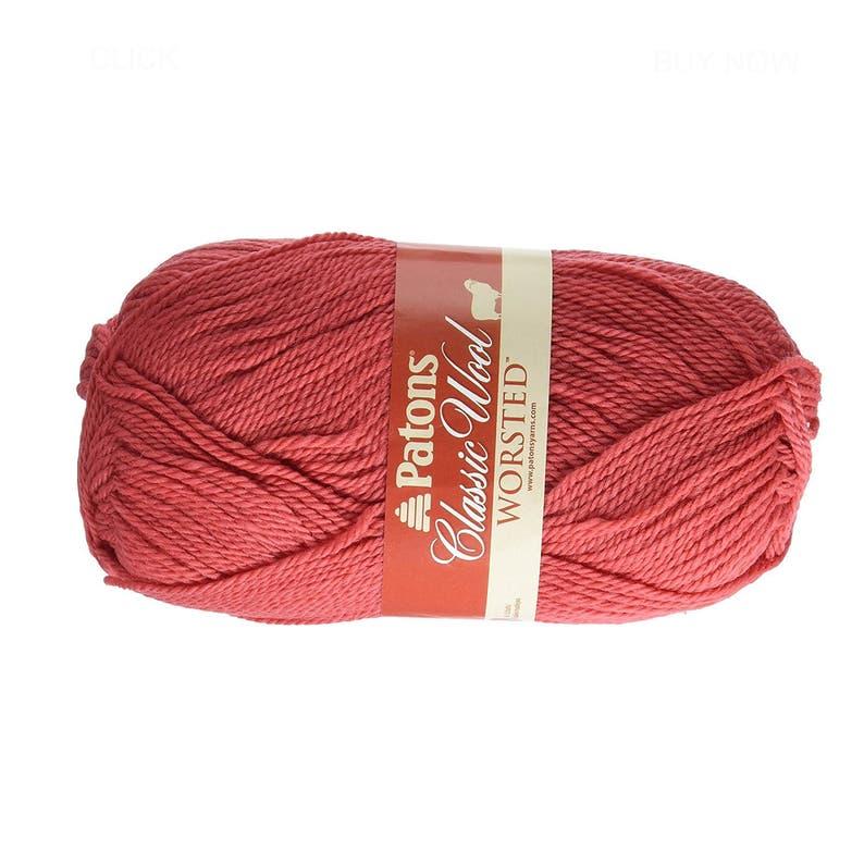 Afghan Macram\u00e9 Wool Yarn; Worsted Currant Red Natural Wool Yarn; Crocheting Knitting Aran