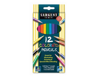 Colored Coloring Pencils, 12 Pack; Adult Coloring Books, Drawing, Bible Study, Journaling, Planner, Diary; Sargent Colored Pencil Artist Set