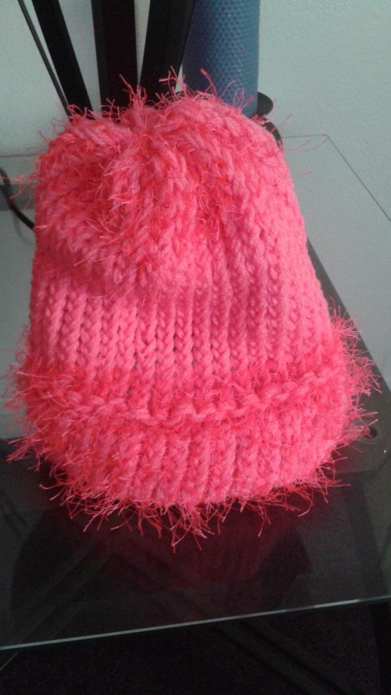 Garment Yarn Twine; 1 Skein Raspberry Red Novelty Fur Yarn; Fluffy Chunky Craft Thread Rug Toy Furry Cord