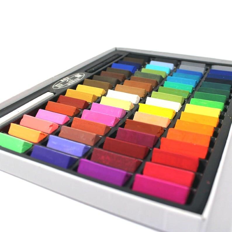 64 Piece Soft Pastel Set Pastel Pencil Art Set Non Toxic image 0