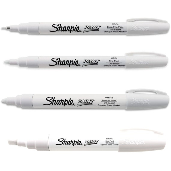 White Sharpie Paint Markers Oil Based One Each Of Extra Fine Fine Medium Bold Point Tip Sharpie Paint Markers Pens