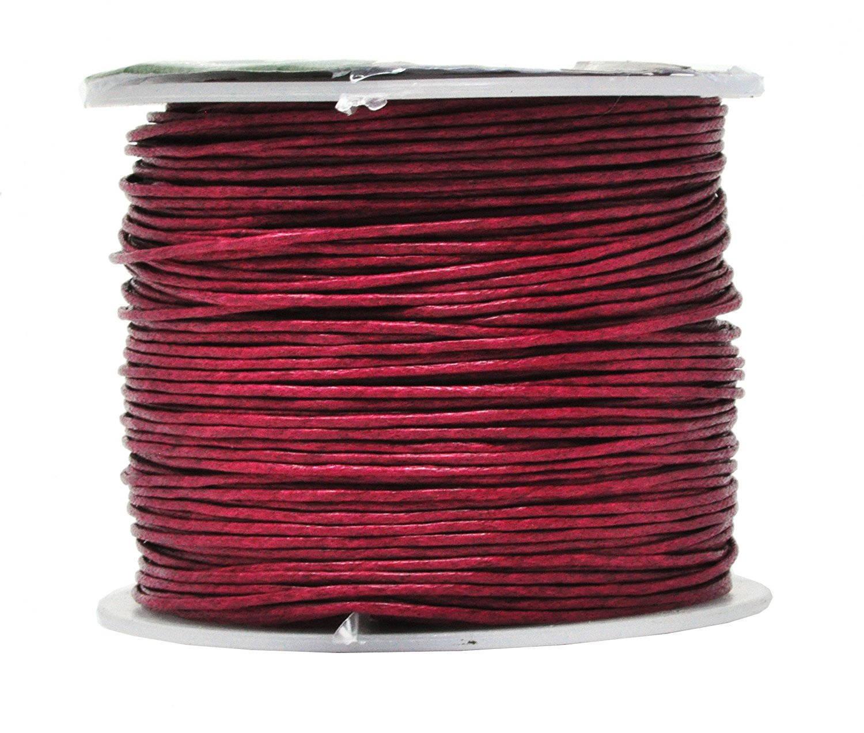 9a26b9f1a238 Couleur rouge foncé de 109 coton ciré, fil   0,5 mm, 109 de Yards ...