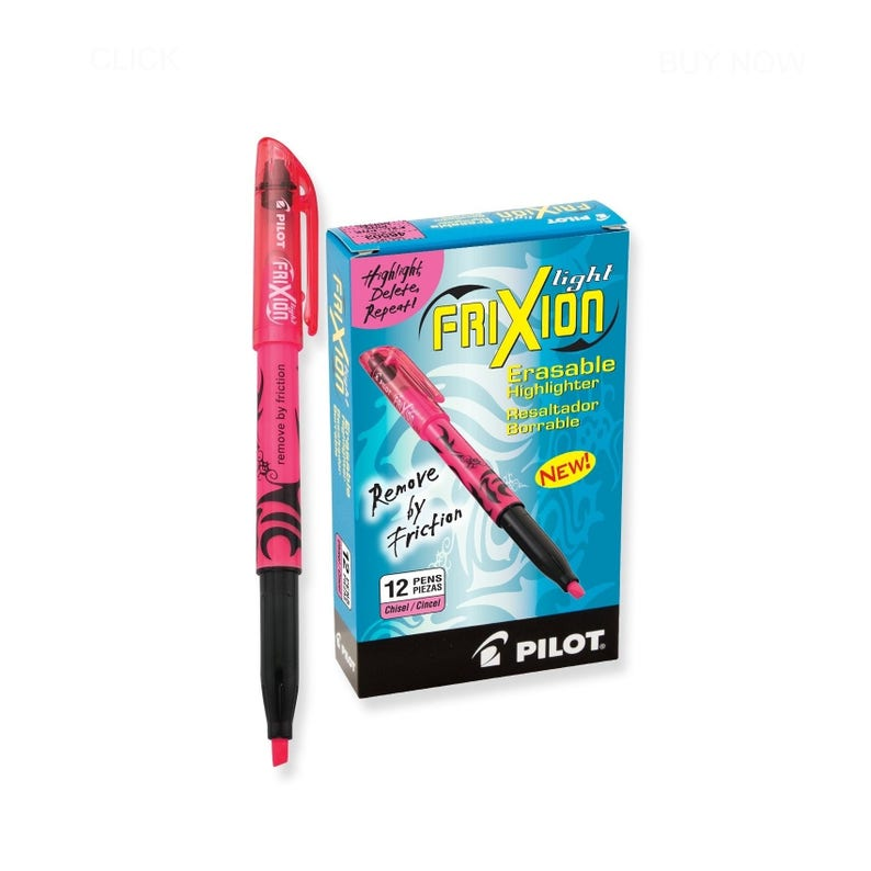 12 Light Pink Pilot Frixion Erasable Highlighters; Coloring Bible Study Journaling Planer Pens Markers Highlighters