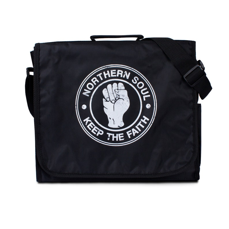 Northern Soul Record Bag - Vintage Retro Style DJ LP Vinyl Records  Messenger Shoulder Bag - Mod Ska Motown - Keep The Faith