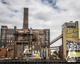Domino Sugar Factory - INSTANT DIGITAL DOWNLOAD - The home of Brooklyn, New York's giant graffiti piece.