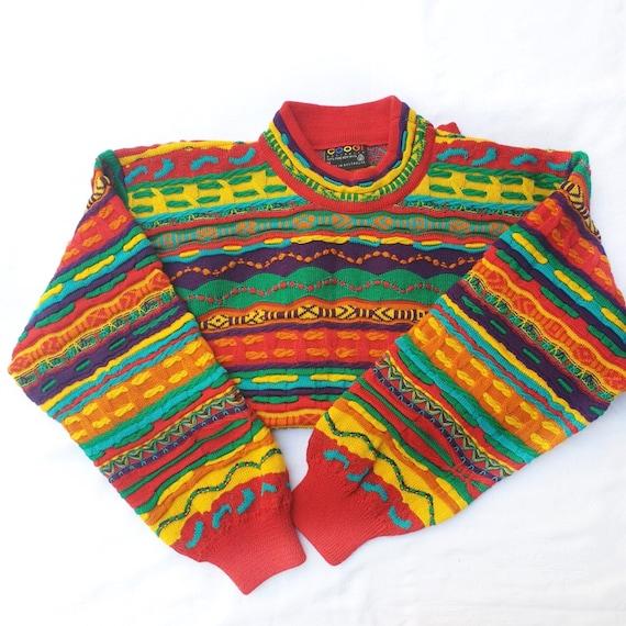 Vintage 90s Coogi Jumper Coogi Sweater Colourful O
