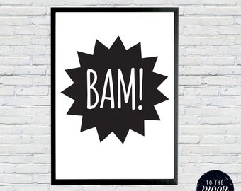 Bam! Pow! Zap! 3 x A3 printables for your little Superheroes room
