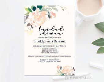 Bridal Shower Invitation Template Etsy