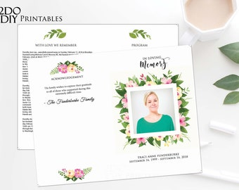 children funeral program template child funeral program etsy