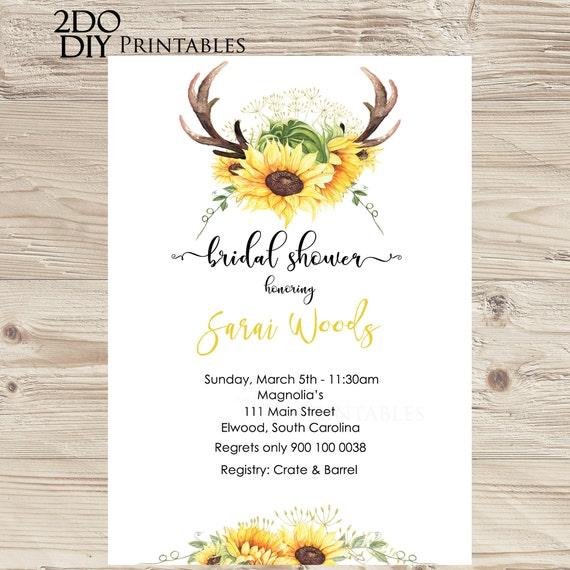 printable sunflower invitation sunflower invitation