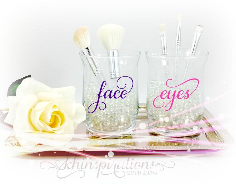 Face And Eye Makeup Brush Holders Makeup Organize Makeup Etsy