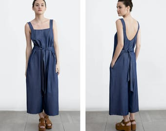 Denim Overall, Denim Jumpsuit , overall dress, loose fit denim , casual wedding dress