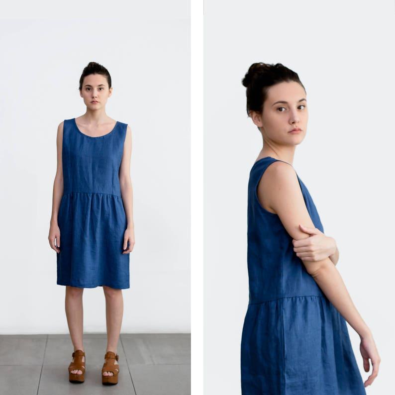 405cba6fe9fdf3 Smock Linen Dress Flax dress Summer linen tunic Oversized | Etsy