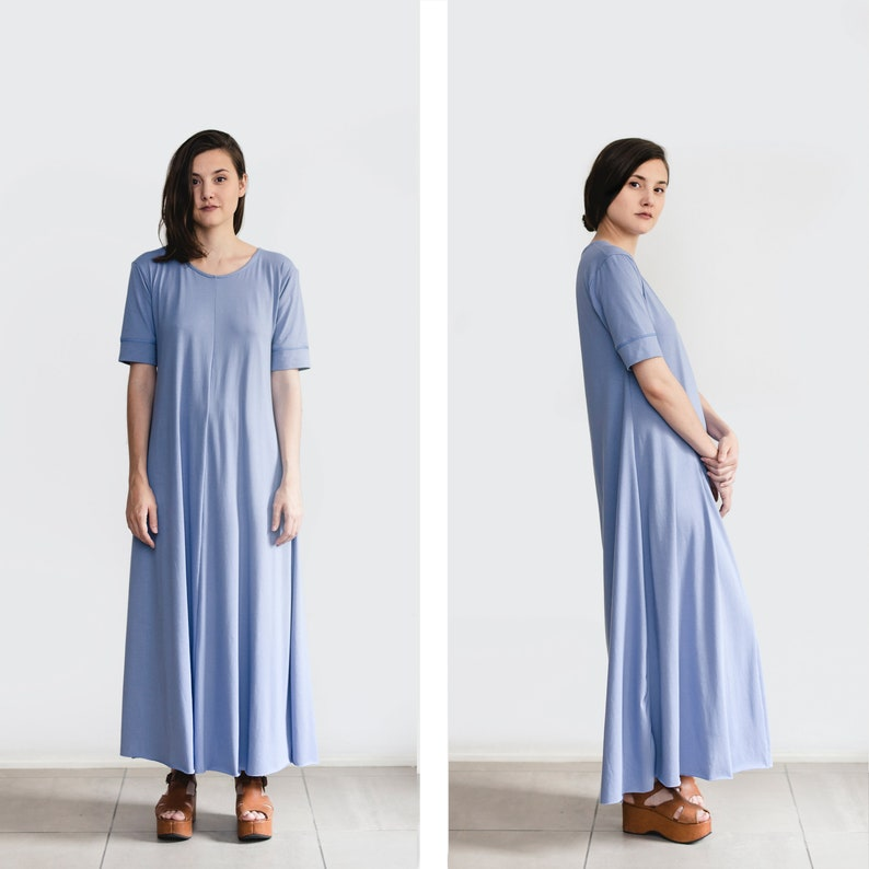 c5ad2f70a86c Maxi Dress loose dress with sleeves oversize clothing plus