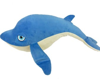 Personalised Blue Whale Children's Cuddly Toy, Keepsake Gift for Celebration of Birth, Birthdays, Christening & More