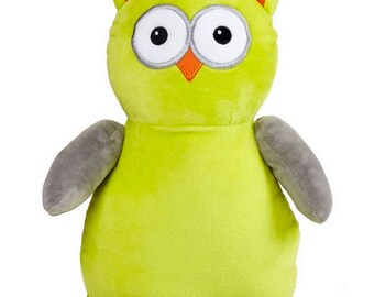 Personalised Green Owl Children's Soft Toy, Keepsake Gift for Celebration of Birth, Birthdays, Christening & More