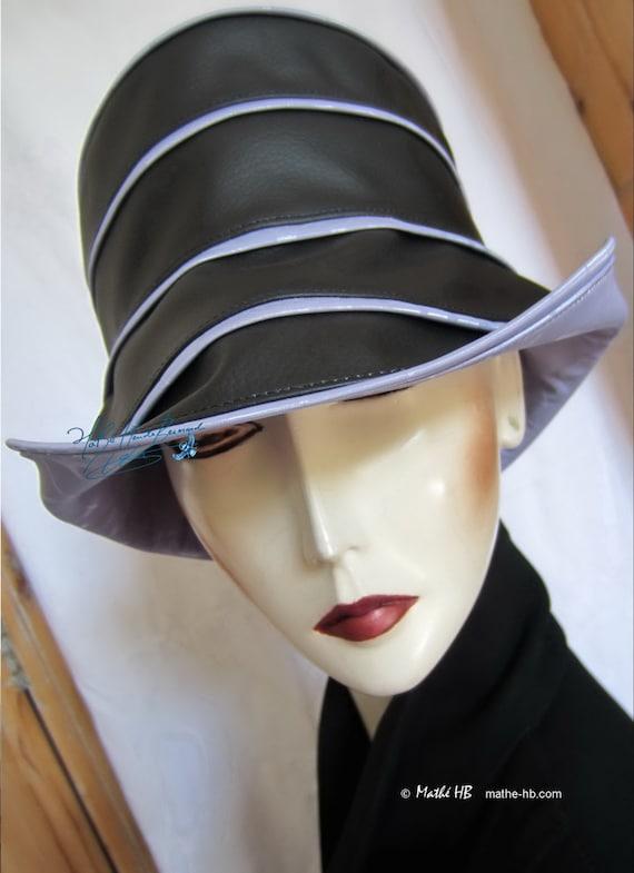 rain hat black ebony and lila parma size L summer rain in  491d822f79c