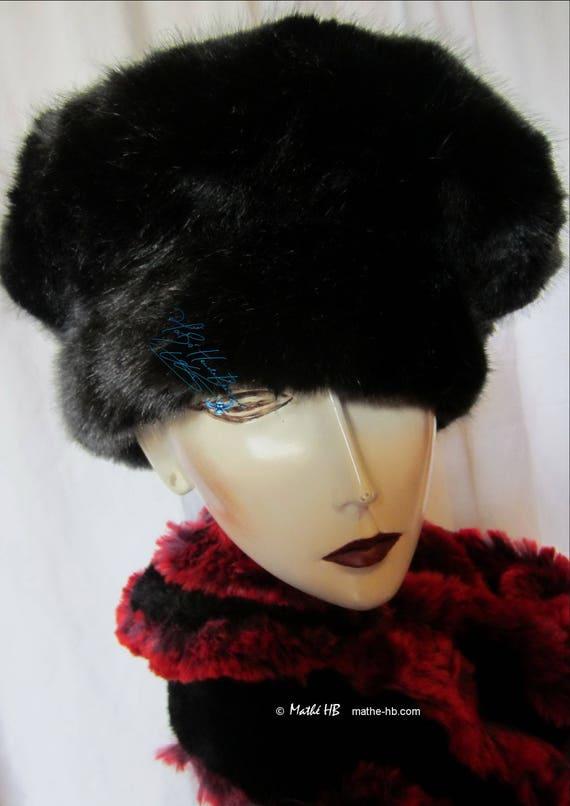 Black Wolf winter hat sur-commande size 56-57 cm   M luxury  5c1573a4875