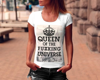 a849efcef5d1a0 Womens Queen T-shirt   Queen Shirt   Funny tshirts   Slogan Tshirt womens  Graphic Tees   Cool Womens T shirt Ladies Crown shirt WD053