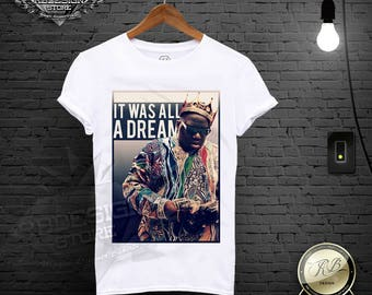 fc4fafb25022 Notorious Big Shirt   Biggie Smalls Shirt   Notorious T shirt Hip Hop Tee  Biggie Tank Top It Was All A Dream Gift For Him   MD591