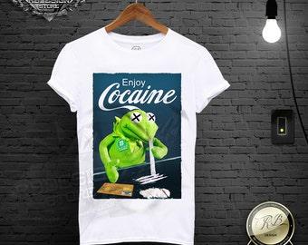 af849a1c Enjoy Cocaine Shirt Men's Parody T-shirt Funny Tshirt Cool T-shirt Joke  Tshirt Drug Tee Mens Festival Tank Top Dope Shirt Graphic Tee MD358