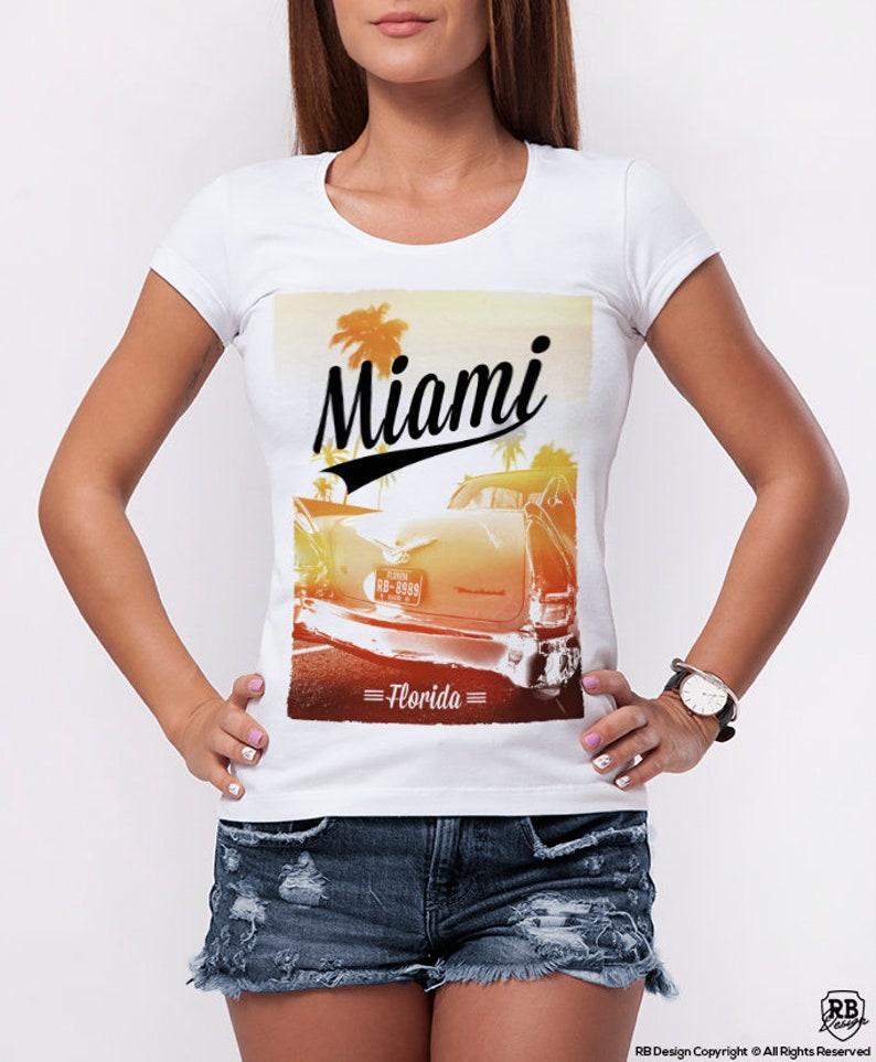 1bd50f3e8175 Womens T-shirt Miami / Cool Summer Graphic Tee Ladies Trending image 0 ...