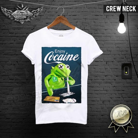 f11428ce662623 Enjoy Cocaine Shirt Men's Parody T-shirt Funny Tshirt | Etsy