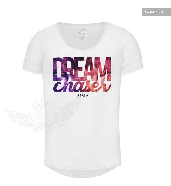 de7c0b074 Dream Chaser / Lion Pattern / Mens T-shirt Deep V Neck White | Etsy