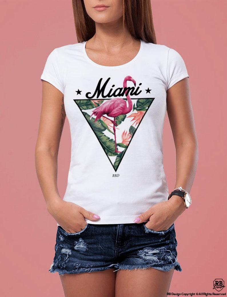 93379d9cebcf Women's Flamingo T-shirt / Cool Tees / Trendy Womens   Etsy