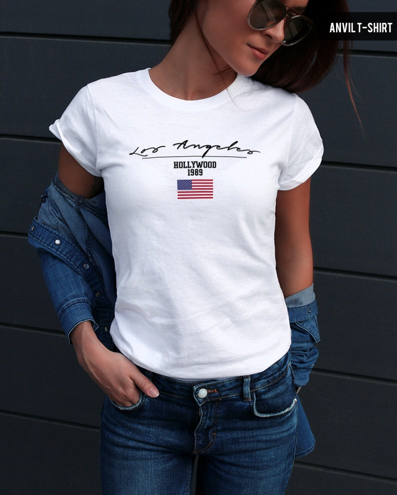 d750ce00d75 US Flag shirt Los Angeles Womens Tshirts Trending Tshirts Cool