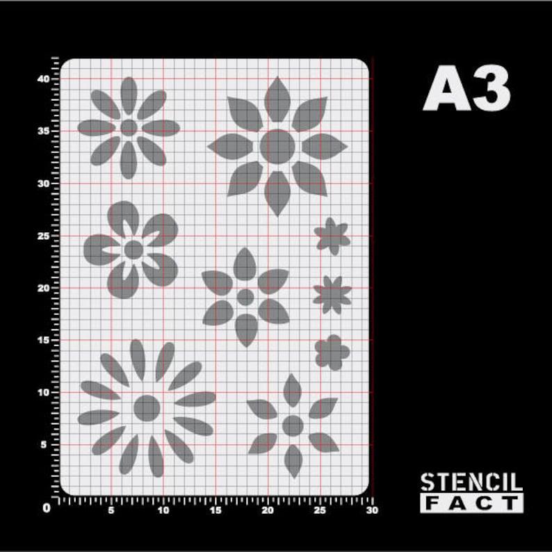 Template Flower Flower 9 blossoms-BA49