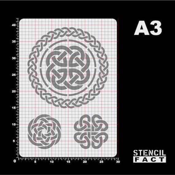 Stencil 3 Celtic knot knot pattern Celtic knot-BS82