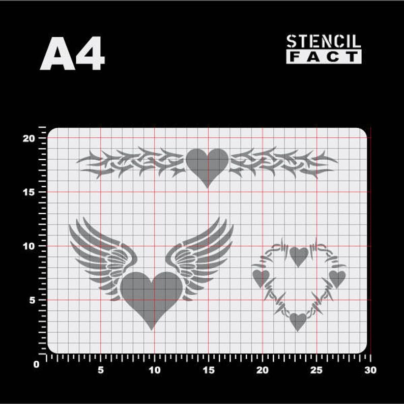 Template Heart Thorns Wing 3 motives-BO08