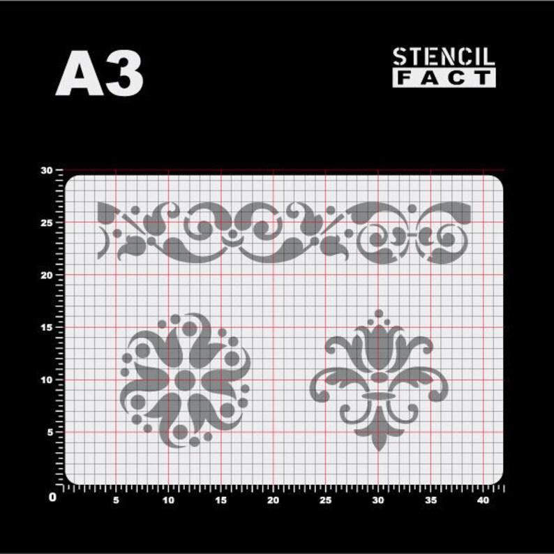 Stencil Acanthus Ornament Vine Rosette-BO13